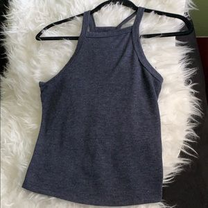 Pacsun Me to We Blue Tank Crop Top